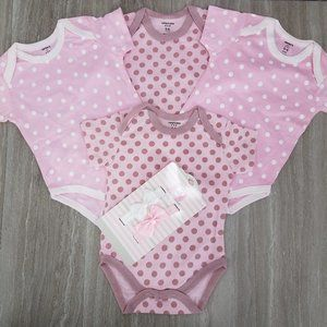 NEW Carters Love Baby Girl 0-6 m Set Bodysuits